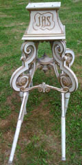 antique french processional stand
