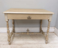 french antique painted fruitwood side table