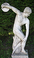 old french garden statue discus