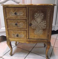 vintage Italian giltwood chest of drawers
