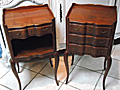 Wonderful pair of vintage french bedside tables