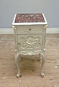 french antique rococo bedside table
