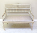 old french upholstered settle