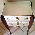 vintage french mirrored bedside table