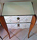 old french mirrored bedside table