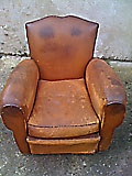 old french club chair