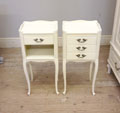 vintage french pair of bedside tables