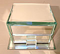 vintage french mirrored jewellry box