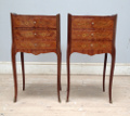 wonderful pair of old french bedside tables
