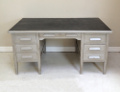 OLD PAINTED PEDELSTAL DESK