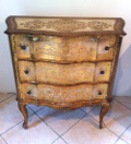 SUPERB VINTAGE FRENCH GILTWOOD CHEST OF DRAWERS