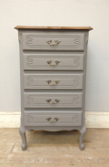 vintage french slim chest of drawers
