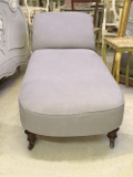 antqiue chaise longue new upholstery