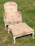 Original Vintage French Upholstered Duchesse Brise