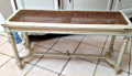 french antique cane bench