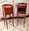vintage french slim bedside tables