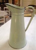 old french enamelware jug