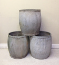 3 old dolly tubs / garden planters