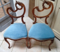 pair of rococo bedroom chairs