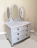 old painted dressing table