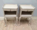 pair of large bedside tables
