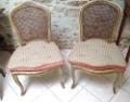 pair of old cane chairs