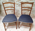 pair of old french upholstered chairs