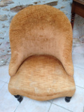 french antique nusing chair