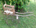 antique french cart