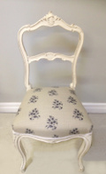 french antique upholstered Louis XV style chair