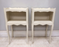 OLD FRENCH PAIR OF BEDSIDE TABLES