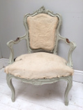 large upholstered french armchair