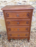 old French slim chest of drawers