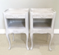 pair of provencal bedside tables