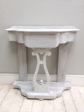 old painted console table