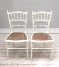pair of antique french cane chairs