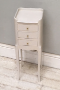 slim french bedside table
