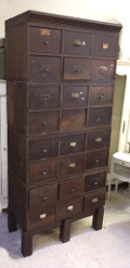 old set of ironmongers drawers