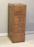 old oak filing cabinet