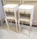 pair of slim vintage bedside tables