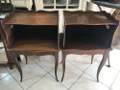 french vintage bedside tables shaped sides