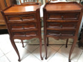 pair of 3 drawer vintage french bedside tables