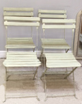 set of 4 old french bistro chairs