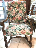 Old French Louis XIII Style Throne Chair
