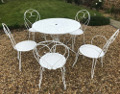 old french garden table and chairs