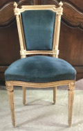 french antique louis xvi blue chair