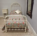 SUPERB FRENCH ANTIQUE IRON AND BRASS SINGLE BED