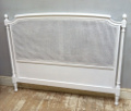 Vintage French cane headboard