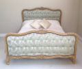 vintage french silk bed
