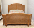 old french kingsize cane bed